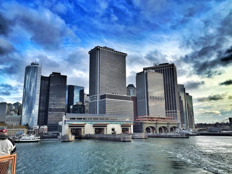Lower Manhattan from the Staten Island Ferry 7:15am