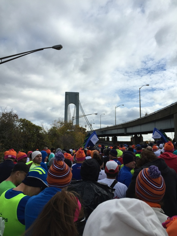 Verrazano Narrows Bridge - we are ready to run over you, 40mph wind gusts not withstanding