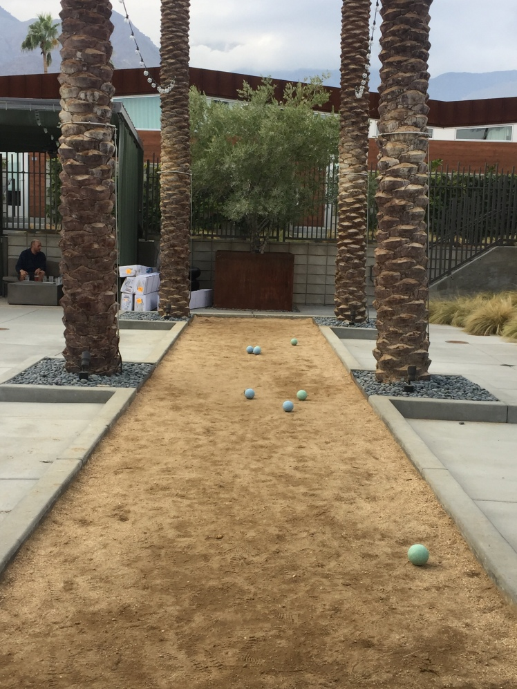 Bocce under palms, Ping My Pong tables, and Y'all Come pools and hot-tubs. I predict the Arrive chain will go far.